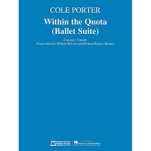 Edward B. Marks Music Company Within the Quota (Ballet Suite) E.B. Marks Series Softcover Composed by Cole Porter