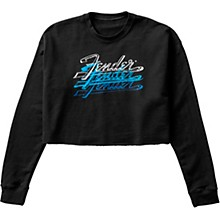 Women's Crop Pullover Large Black