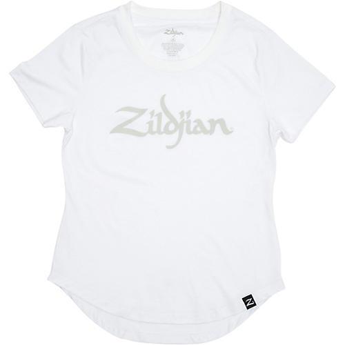 Zildjian Women's Logo Tee, White Medium White