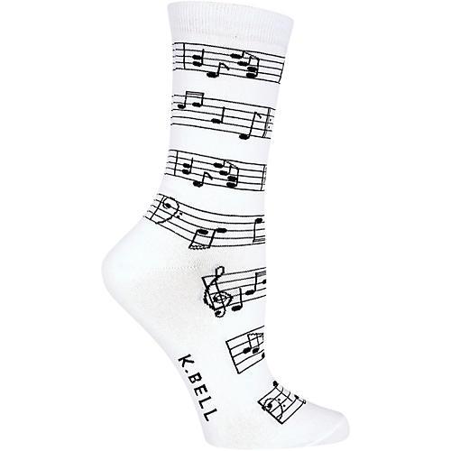 K. Bell Women's Making Music Crew Socks