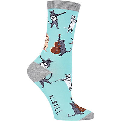 K. Bell Women's Musical Cats Crew Socks