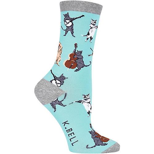 K. Bell Women's Musical Cats Crew Socks