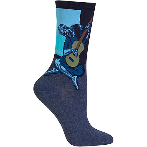 Hot Sox Women's Old Guitarist Socks