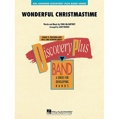 Hal Leonard Wonderful Christmastime - Discovery Plus Concert Band Series Level 2 arranged by Larry Norred