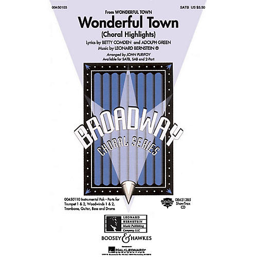 Hal Leonard Wonderful Town (Choral Highlights) ShowTrax CD Arranged by John Purifoy
