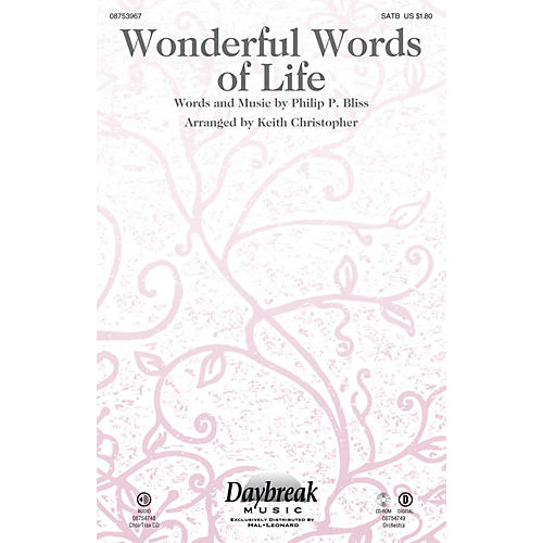 Daybreak Music Wonderful Words of Life ORCHESTRA ACCOMPANIMENT Arranged by Keith Christopher