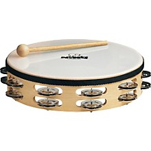 Nino Wood Double Row Tambourine
