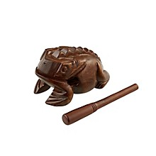Wood Frog Hand Percussion Instrument Brown Large