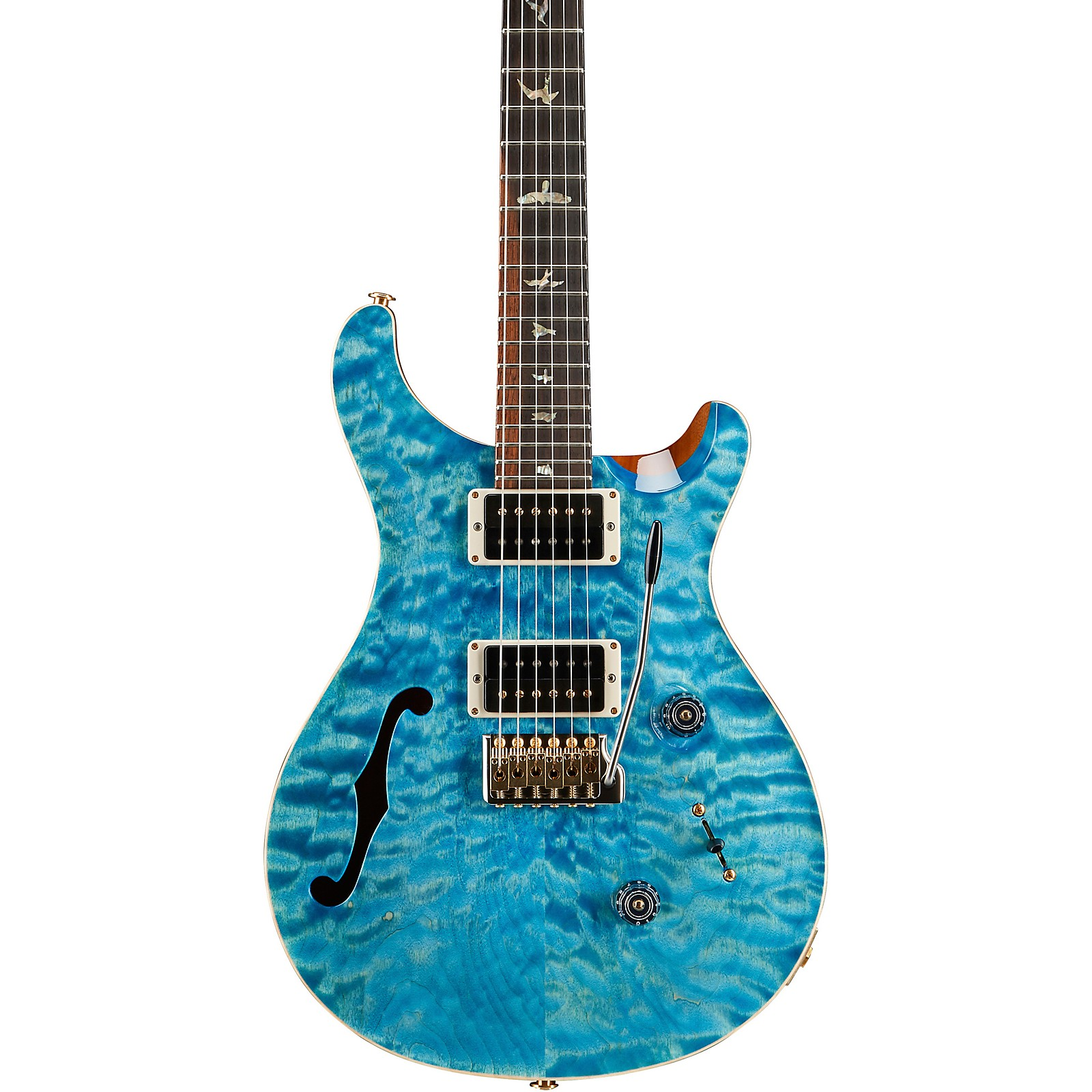 PRS Wood Library Custom 24 Semi-Hollow 10 Top Quilt with Pattern Thin Torrified Maple Neck Electric Guitar