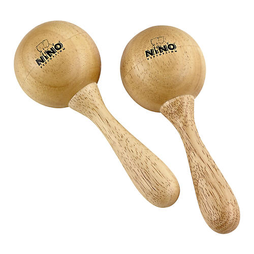 Nino Wood Maracas Natural Medium