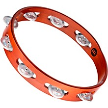 Wood Tambourine One Row Aluminum Jingles