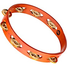 Wood Tambourine One Row Brass Jingles