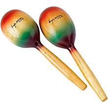 Tycoon Percussion Wooden Maracas - Rainbow Finish