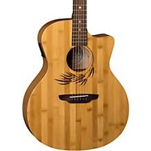 Open BoxLuna Guitars Woodland Bamboo Grand Auditorium Acoustic-Electric Guitar