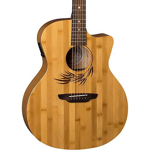 Luna Guitars Woodland Bamboo Grand Auditorium Acoustic-Electric Guitar Natural