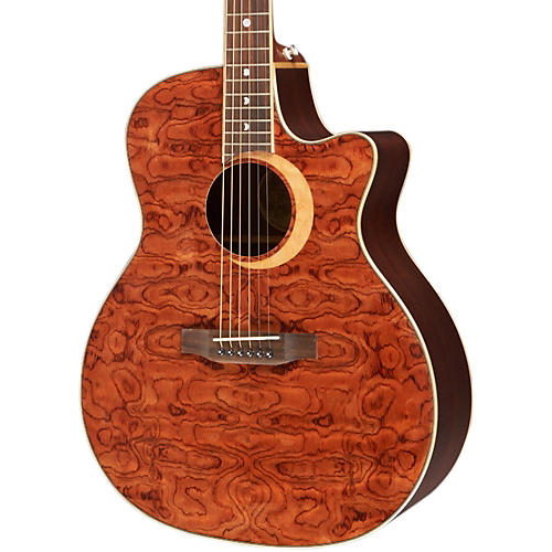 Luna Guitars Woodland Series Bubinga Cutaway Acoustic-Electric Guitar