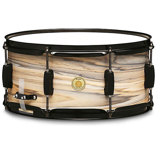 TAMA Woodworks Poplar Snare Drum 14 x 6.5 in. Natural Zebrawood Wrap