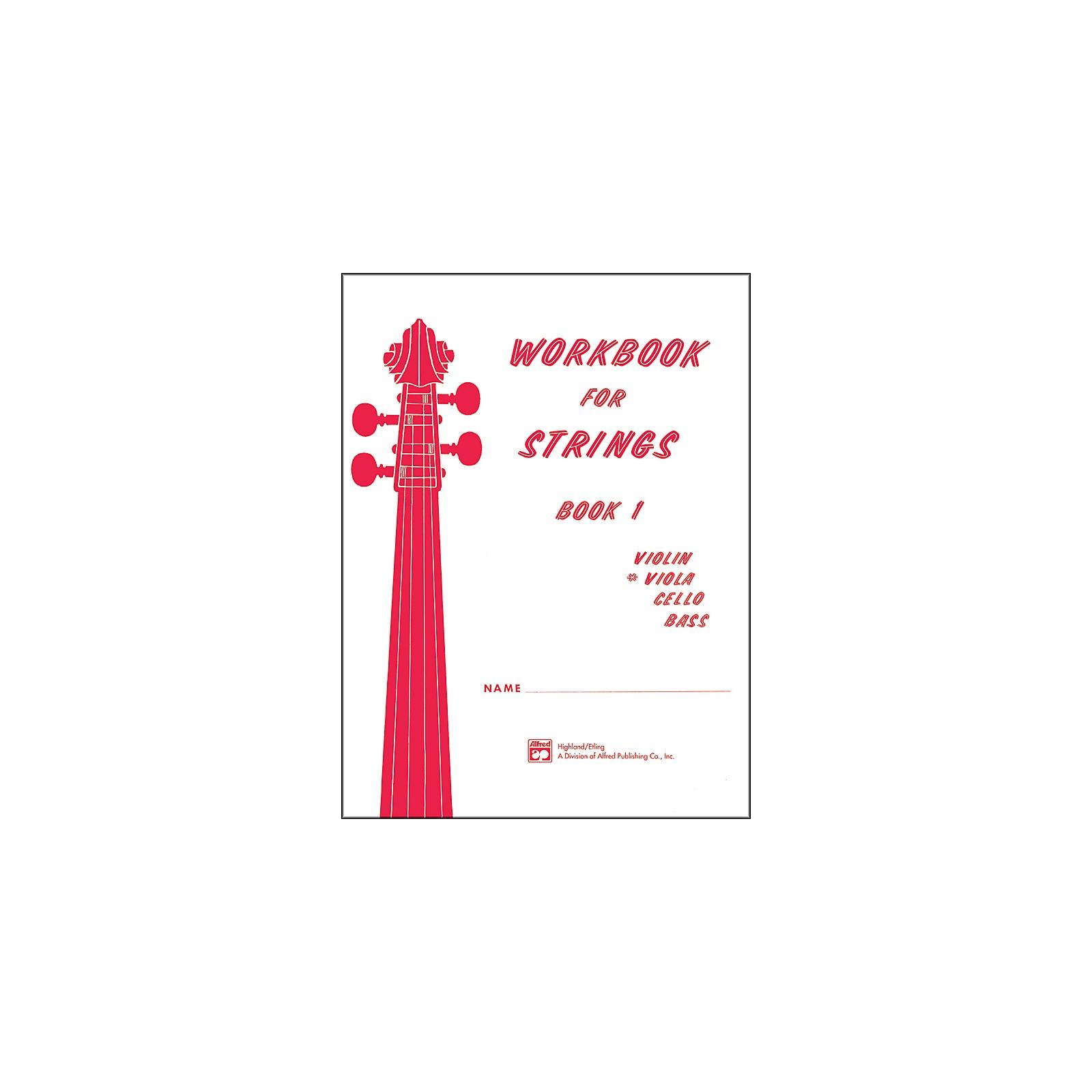 Alfred Workbook for Strings Book 1 Viola