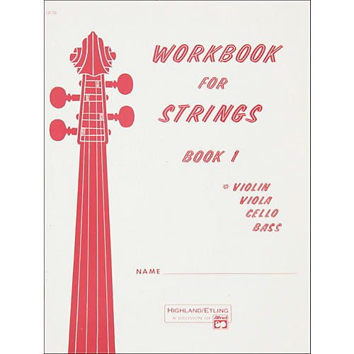 Alfred Workbook for Strings Book 1 Violin
