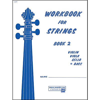 Alfred Workbook for Strings Book 2 Bass