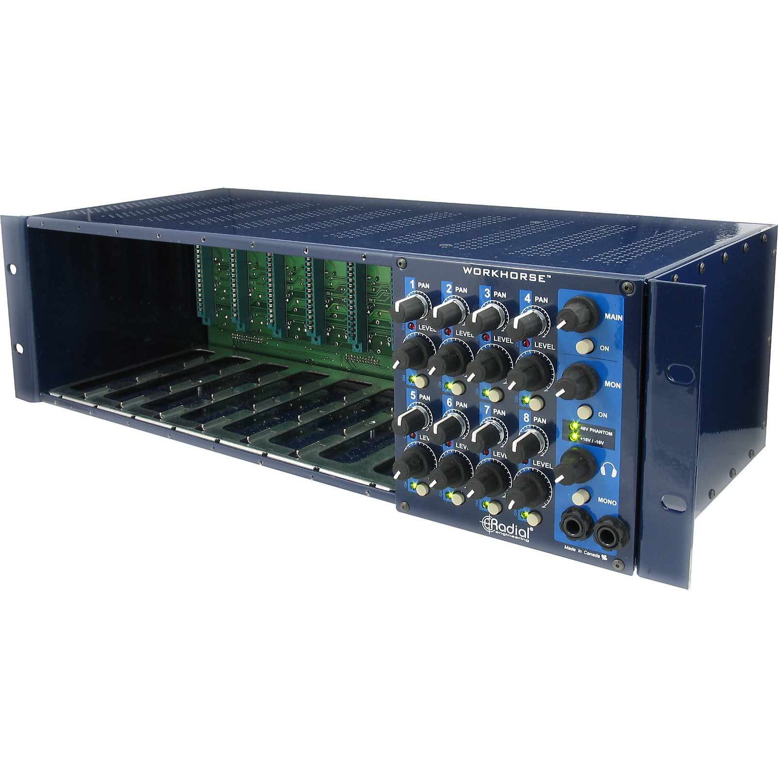 Radial Engineering Workhorse 500 Series Rack and Mixer