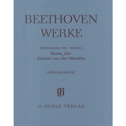 G. Henle Verlag Works for Piano Four-Hands Henle Edition  by Beethoven Edited by Hans Schmidt