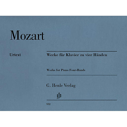 G. Henle Verlag Works for Piano Four-Hands Henle Music Softcover by Mozart Edited by Peter Jost