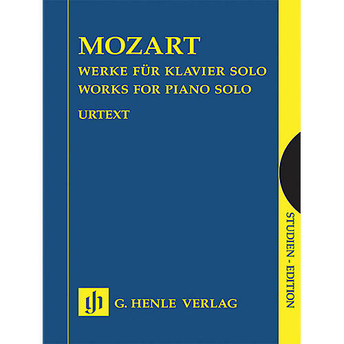 G. Henle Verlag Works for Piano Solo (Study Score) Henle Study Scores Series Softcover by Wolfgang Amadeus Mozart