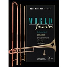 Music Minus One World Favorites - Beginning Level (Music Minus One Trombone) Music Minus One Series Softcover with CD