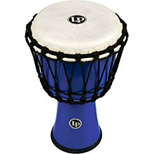 World Rope-Tuned Circle Djembe, 7 in. Blue
