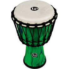 World Rope-Tuned Circle Djembe, 7 in. Green Marble