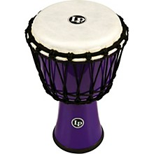 World Rope-Tuned Circle Djembe, 7 in. Purple