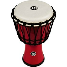 World Rope-Tuned Circle Djembe, 7 in. Red