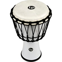 World Rope-Tuned Circle Djembe, 7 in. White