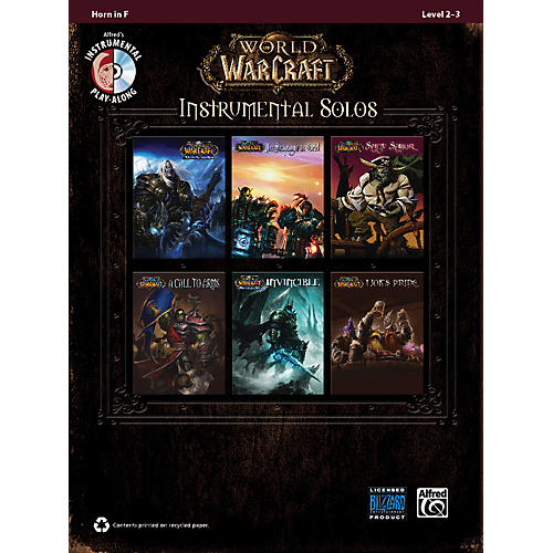 Alfred World of Warcraft Instrumental Solos Horn in F Book & CD