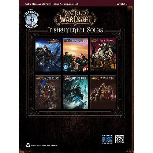 Alfred World of Warcraft Instrumental Solos for Strings Cello Book & CD
