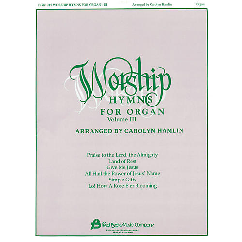 Hal Leonard Worship Hymns For Organ - Volume 3
