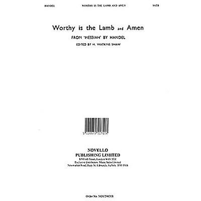 Novello Worthy Is the Lamb (from Messiah) SATB Composed by George Frideric Handel