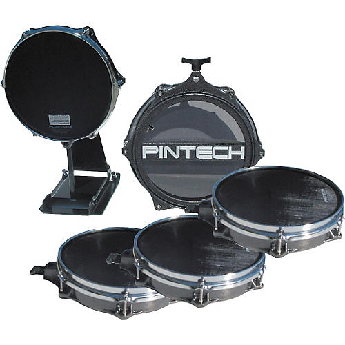 Pintech Woven Head Snare Drum, Tom, and Kick Pad Set