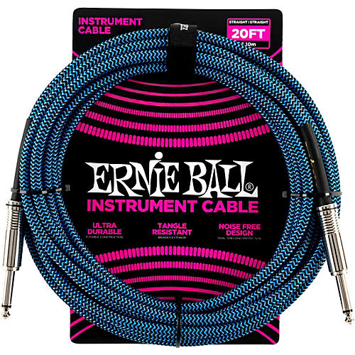 Ernie Ball Woven Straight/Straight Nickel-Plated 1/4
