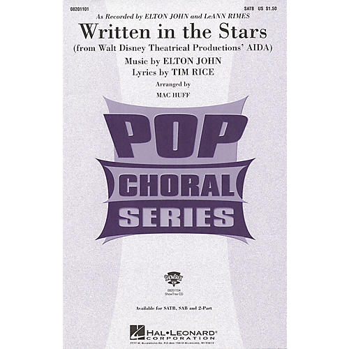 Hal Leonard Written in the Stars SAB by Elton John Arranged by Mac Huff