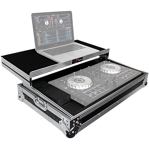 ProX X-MXTSBLT ATA Style Flight Road Case with Sliding Laptop Shelf for Pioneer DDJ-SBII, DDJ-RB  and Numark Mixtrack Pro II DJ Controllers