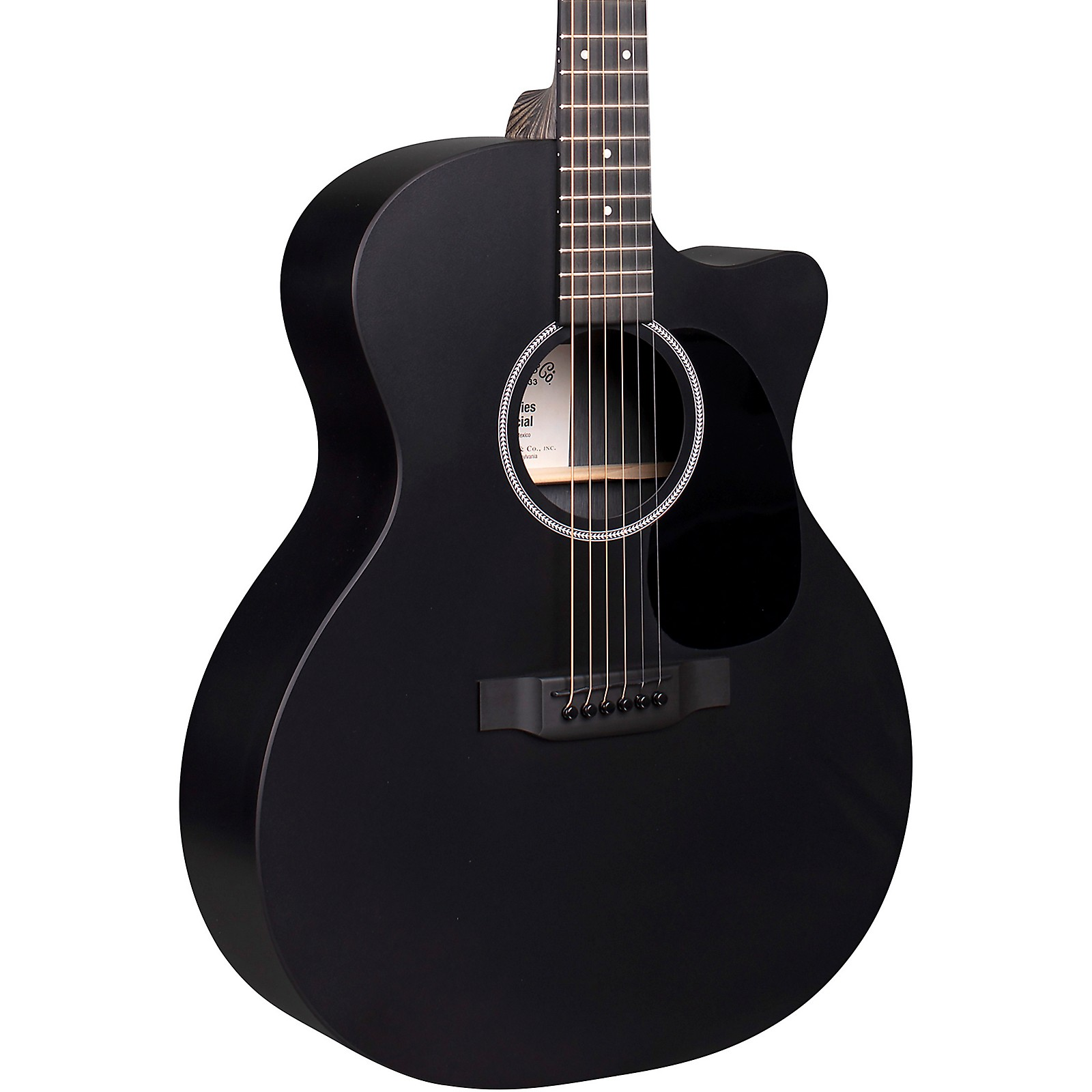 Martin X Series Style Special GPC Black HPL Acoustic-Electric Guitar