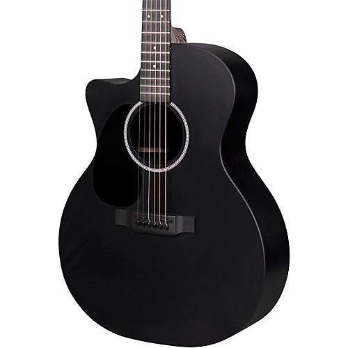 Martin X Series Style Special GPC Black HPL Left-Handed Acoustic-Electric Guitar Black