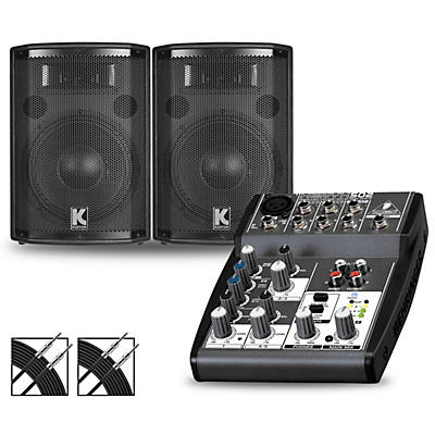 Behringer XENYX 502 Mixer and Kustom HiPAC Speakers