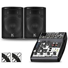 XENYX 502 Mixer and Kustom HiPAC Speakers 12