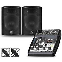 Behringer XENYX 502 Mixer and Kustom HiPAC Speakers