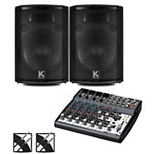 XENYX 802 Mixer and Kustom HiPAC Speakers 12