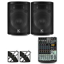 XENYX QX1204USB Mixer and Kustom HiPAC Speakers 12