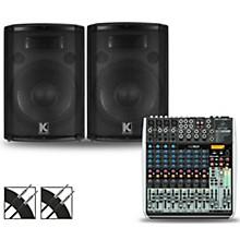 Behringer XENYX QX1622USB Mixer and Kustom HiPAC Speakers